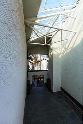 绩溪县博物馆的通道