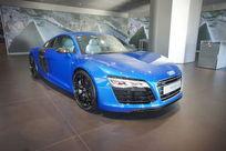 蓝色的奥迪跑车