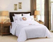 白色床上六件套