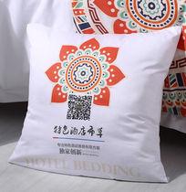 白色印花枕头