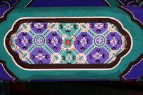 古代绿地黑边花纹边框图案