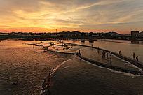 晚霞中的横江公园