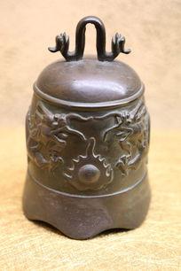 明代海水龙珠铜钟古钟