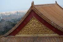 颐和园后山藏传佛教建筑封闭式山花