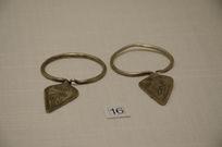 银饰耳饰-苗族菱形银耳环