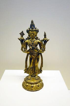 14世纪鎏金铜弥勒立像
