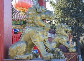 鞍山佛光寺母石狮与公石狮