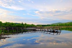 森林湖风景