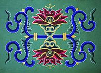 鞍山佛光寺墙壁花的图案