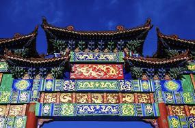 鞍山市博物馆牌楼门中楼