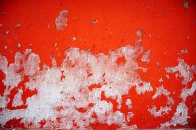 斑驳的红色墙壁