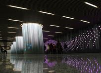 紫色梦幻地铁站