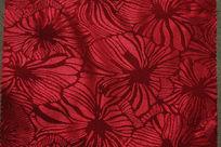 红色花纹布纹