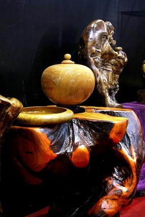 木茶机雕刻