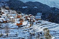 金龙山雪景风光