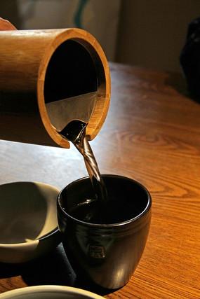 竹筒陶瓷茶