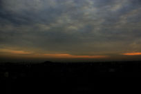 日出东方天际线