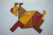 中国传统七巧板拼字生肖羊