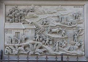 石刻人物雕塑