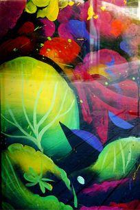 色彩涂鸦背景