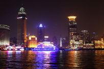 夜色阑珊的黄浦江夜景