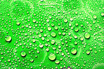绿色水珠背景