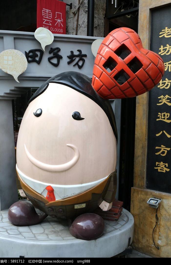 上海田子坊卡通人物雕像图片