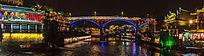 湘西凤凰古镇的大桥夜景