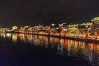 湘西凤凰古镇的沱江夜色