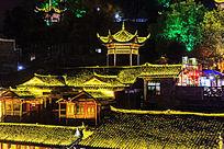 湘西凤凰古镇夜景