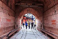 凤凰城古楼拱门