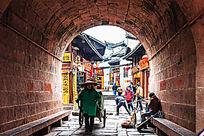 凤凰城古楼拱门升恒门