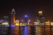 上海黄浦江夜景灯光