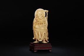 象牙雕弥勒佛立像