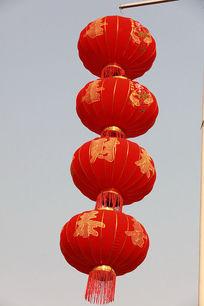 节日喜庆的红灯笼串