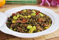 咸菜牛肉丝毛豆