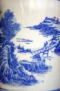 古代桥渡瓷器绘画