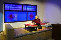 文化遗产传承人刘吉英剪纸蜡像