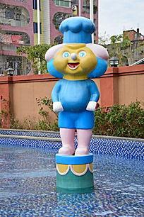 温泉儿童池卡通人物