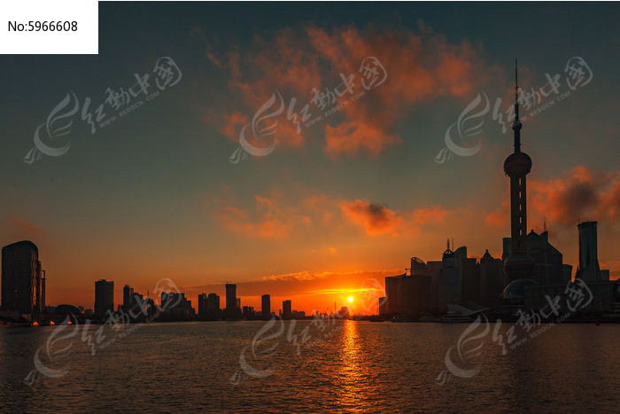 黄浦江上的日出图片