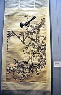 齐白石绘画作品《梅花喜鹊》