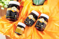 摄影棚拍的蜂蜜