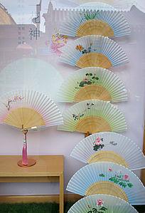 传统梅兰竹菊纸扇