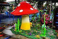 卡通蘑菇雕塑