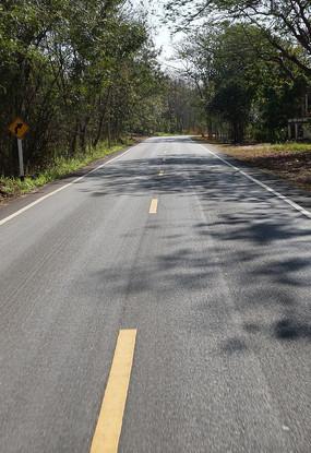 清迈的柏油公路