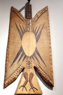 非洲雕刻雄鹰图案壁挂