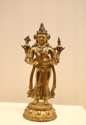 鎏金铜弥勒佛立像