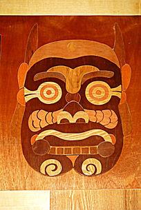 传统木制鬼脸