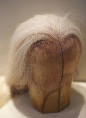 白毛女头套