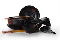黑色陶瓷套装餐具